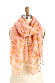 Two's Company Rose Fox Print Scarf - Front cropped