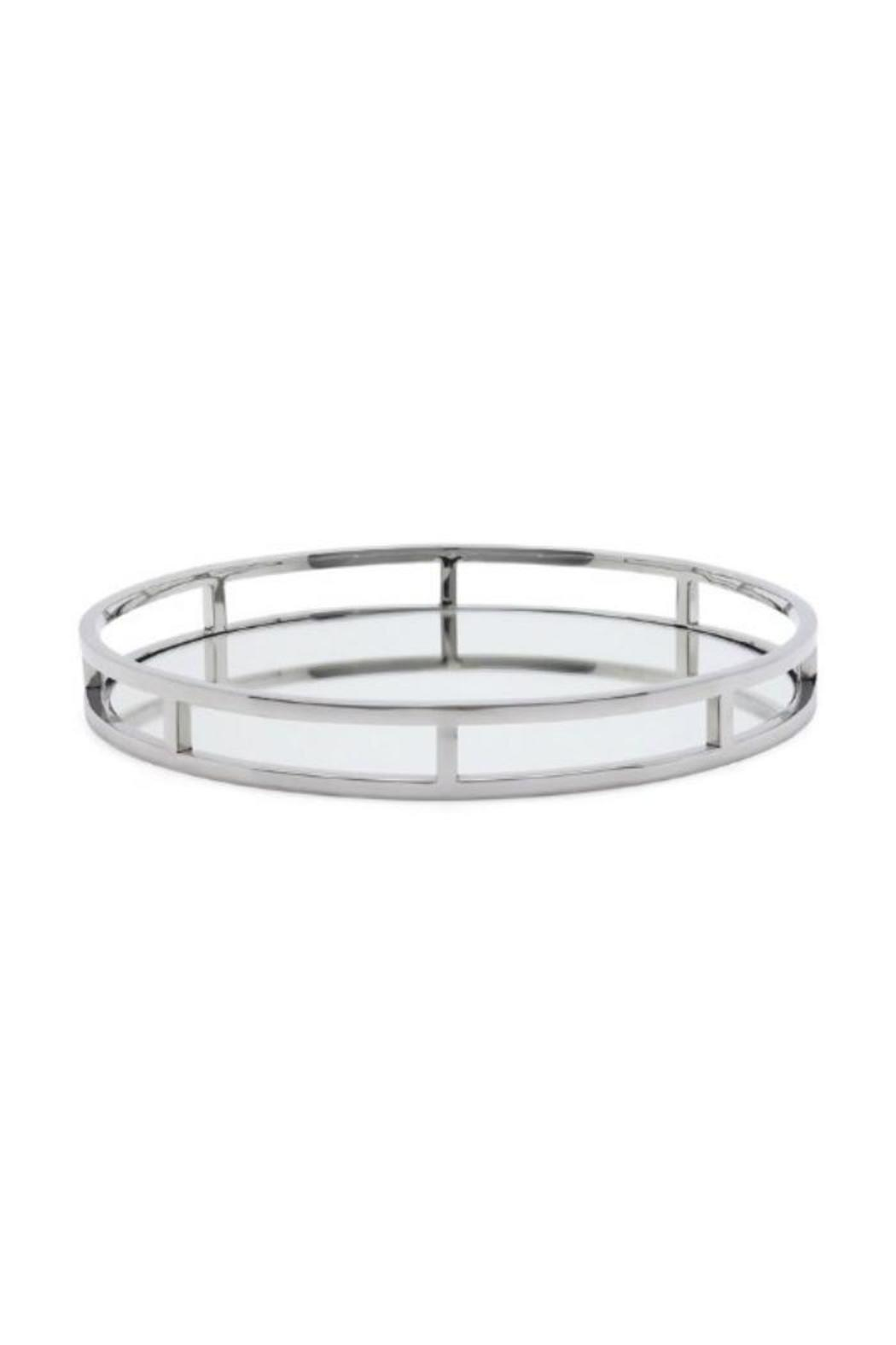 Two S Company Round Mirrored Tray Front Cropped Image