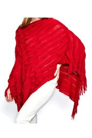 Two's Company Ruffle Infinity Poncho - Front cropped