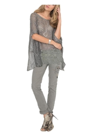 Two's Company Shimmer Knit Top - Product Mini Image