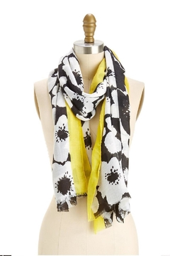 Shoptiques Product: Yellow/black Flower Print Scarf