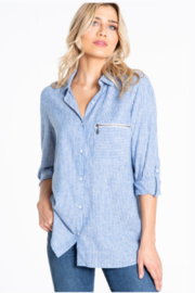Multiples Two Sided Charmeuse Shirt - Product Mini Image