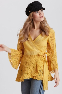Odd Molly Two-Step Flow Blouse - Product List Image