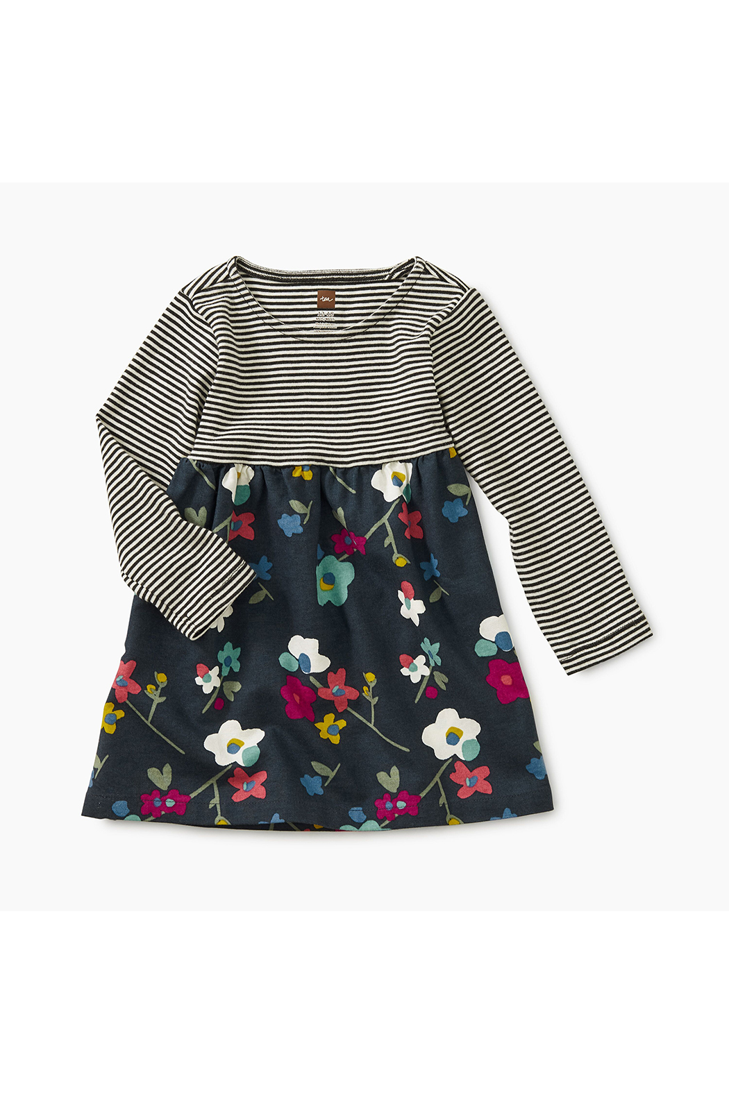 Tea Collection Two-Tone Baby Dress - Main Image