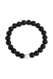 Riah Fashion Two-Tone Beads Bracelet - Product Mini Image