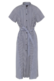 Martin Grant TWO TONE BELTED DRESS - Product Mini Image
