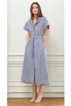 Martin Grant TWO TONE BELTED DRESS - Product List Image