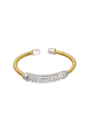 Lets Accessorize Two-Tone Cable-Cuff Ring - Product Mini Image