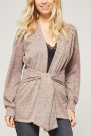 Promesa USA Two Tone Cardi with Tie Waist - Product Mini Image