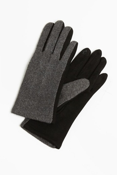 Look by M Two-Tone Cashmere Gloves - Alternate List Image
