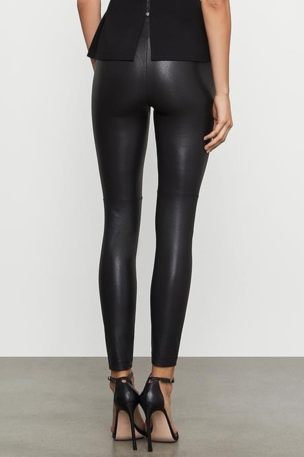 BCBG Max Azria Two Tone Coated Leggings - Front Full Image