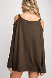 143 Story Two Tone Cold Shoulder Top - Side cropped