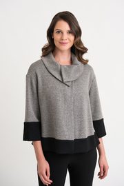 Joseph Ribkoff  Two-Tone Collar Sweater - Product Mini Image