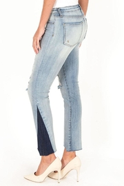 Kut from the Kloth Two Tone Denim - Front full body