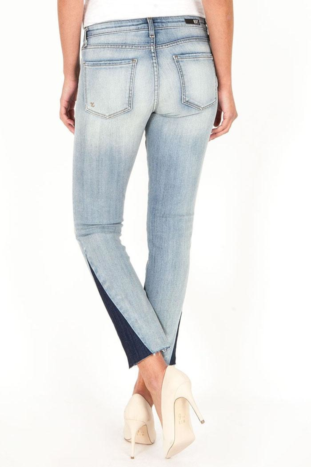 Kut from the Kloth Two Tone Denim - Side Cropped Image