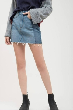 Shoptiques Product: Two-Tone Denim Skirt