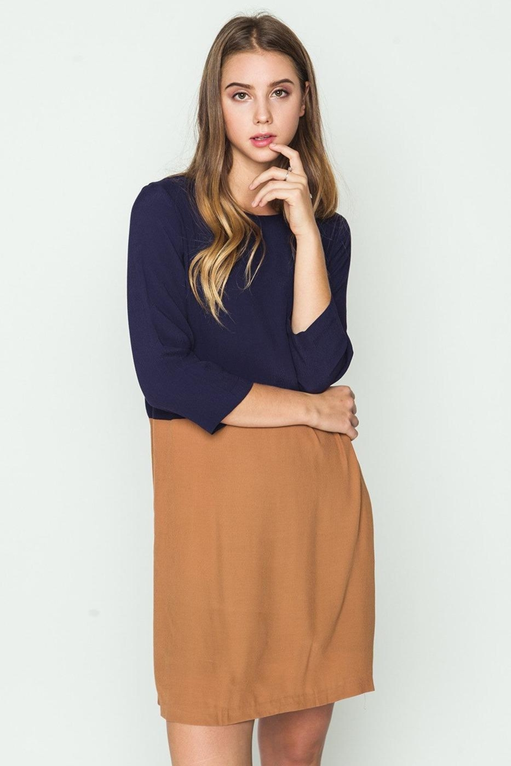 mo:vint Two Tone Dress - Front Full Image
