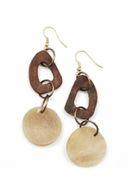 Anju Handcrafted Artisan Jewelry Two Tone Drop Earring - Product Mini Image
