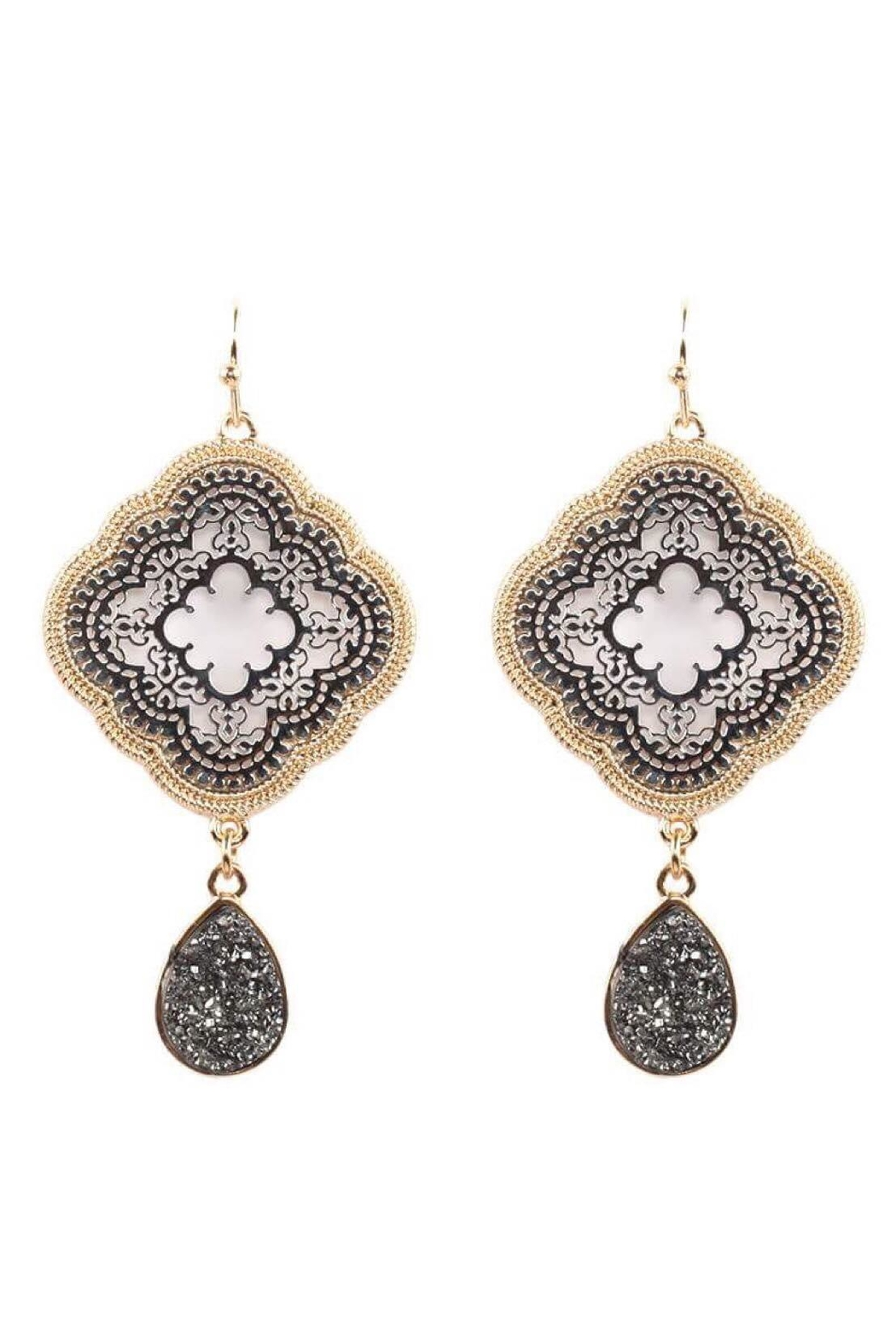 Baggis Accesorios Two Tone Earrings - Front Cropped Image