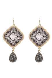 Baggis Accesorios Two Tone Earrings - Product Mini Image