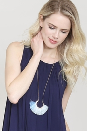 Riah Fashion Two-Tone Fan-Tassel-Necklace - Product Mini Image
