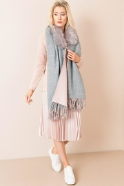 Pia Rossini Two-Tone Faux-Fur Scarf - Front cropped
