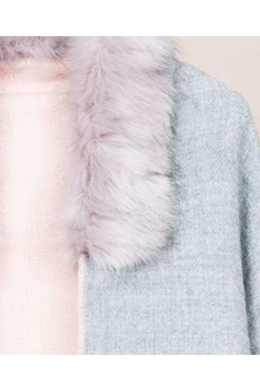 Pia Rossini Two-Tone Faux-Fur Scarf - Side Cropped Image