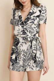 Dress Forum  Two-Tone Floral Wrap Romper - Product Mini Image