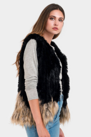 Do Everything in Love Two Tone Fur Vest - Product Mini Image