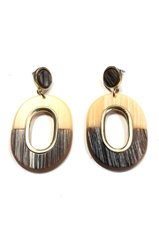 Wona Trading Two-Tone Geometric Earrings - Product Mini Image