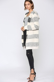 Fate Two Tone Hooded Cardigan - Front full body