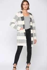 Fate Two Tone Hooded Cardigan - Side cropped