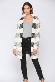 Fate Two Tone Hooded Cardigan - Front cropped