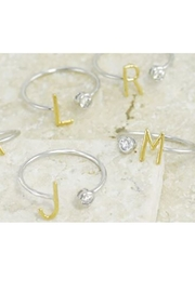 Cool and Interesting Two-Tone Initial Ring - Product Mini Image