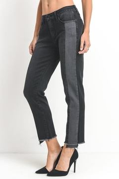 just black Two Tone Jeans - Alternate List Image