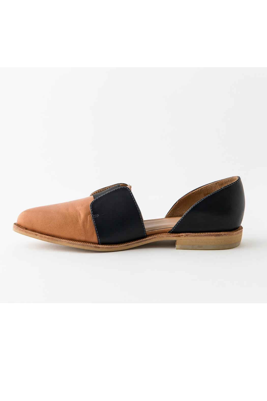Fortress of Inca Two-Tone Leather Loafer - Front Cropped Image