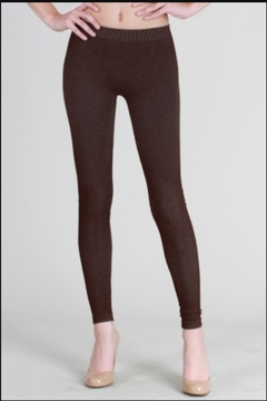 Shoptiques Product: Two Tone Leggings, Brown