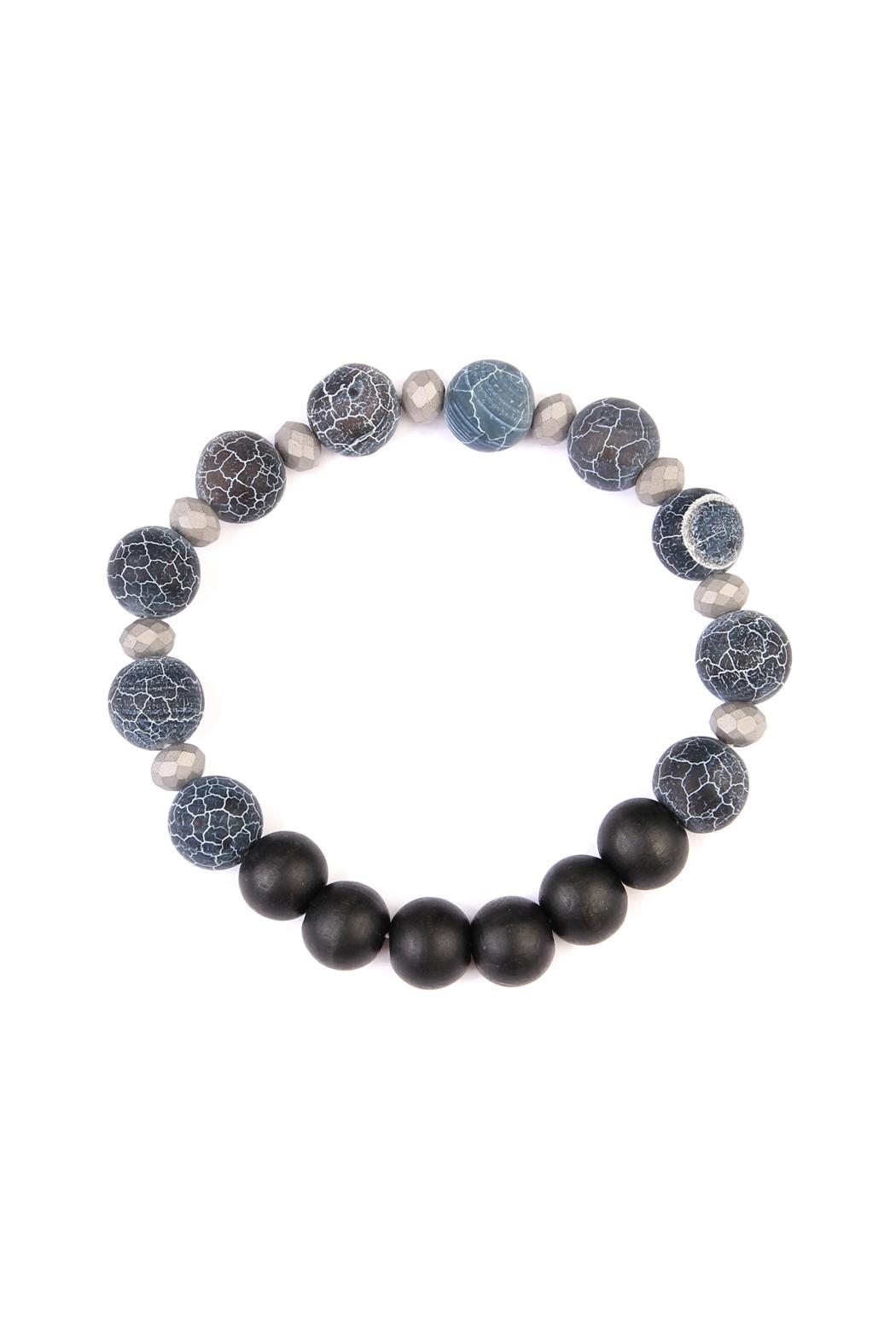 Riah Fashion Two-Tone Natural-Stone Bracelet - Main Image
