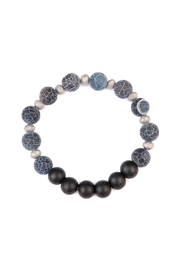Riah Fashion Two-Tone Natural-Stone Bracelet - Front cropped
