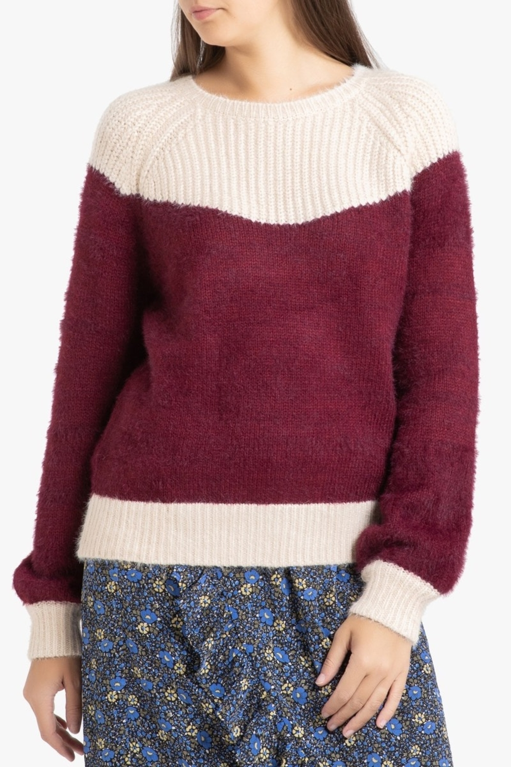FRNCH Two-tone Nigelle Sweater - Main Image
