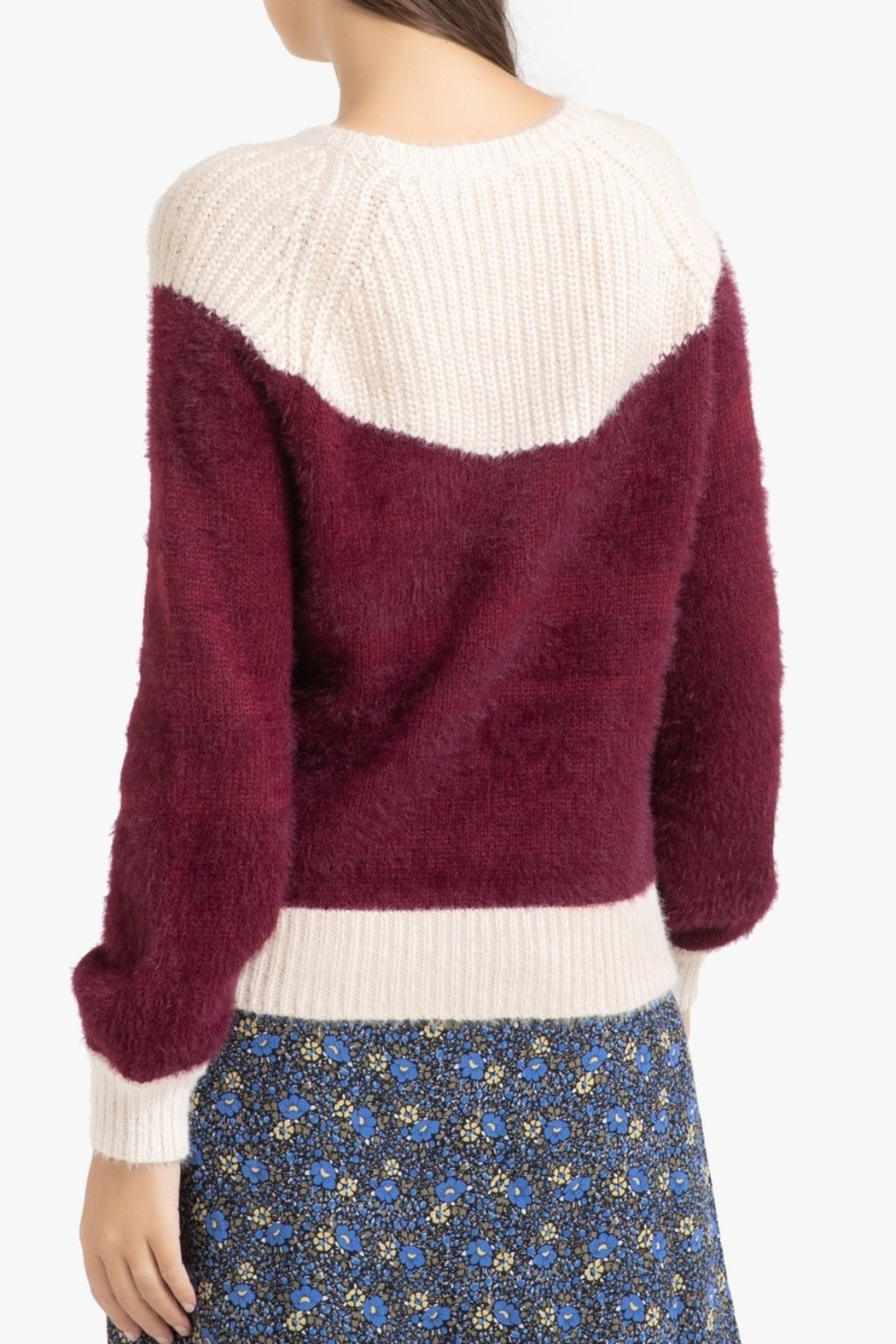 FRNCH Two-tone Nigelle Sweater - Front Full Image