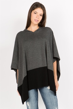 Shoptiques Product: Two Tone Poncho