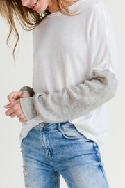 Doe & Rae Two-Tone Sleeve Sweater - Product Mini Image