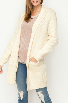 Mystree TWO TONE TEXTURED CARDIGAN - Product List Image