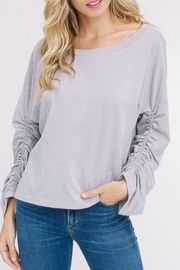 Listicle Two-Tone Texured Top - Product Mini Image