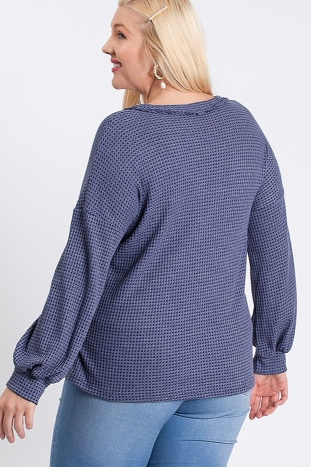Hailey & Co Two Tone Thermal Top - Front Full Image