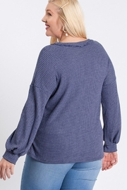 Hailey & Co Two Tone Thermal Top - Front full body