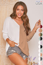 Fantastic Fawn  Two Tone Thermal Top - Product Mini Image
