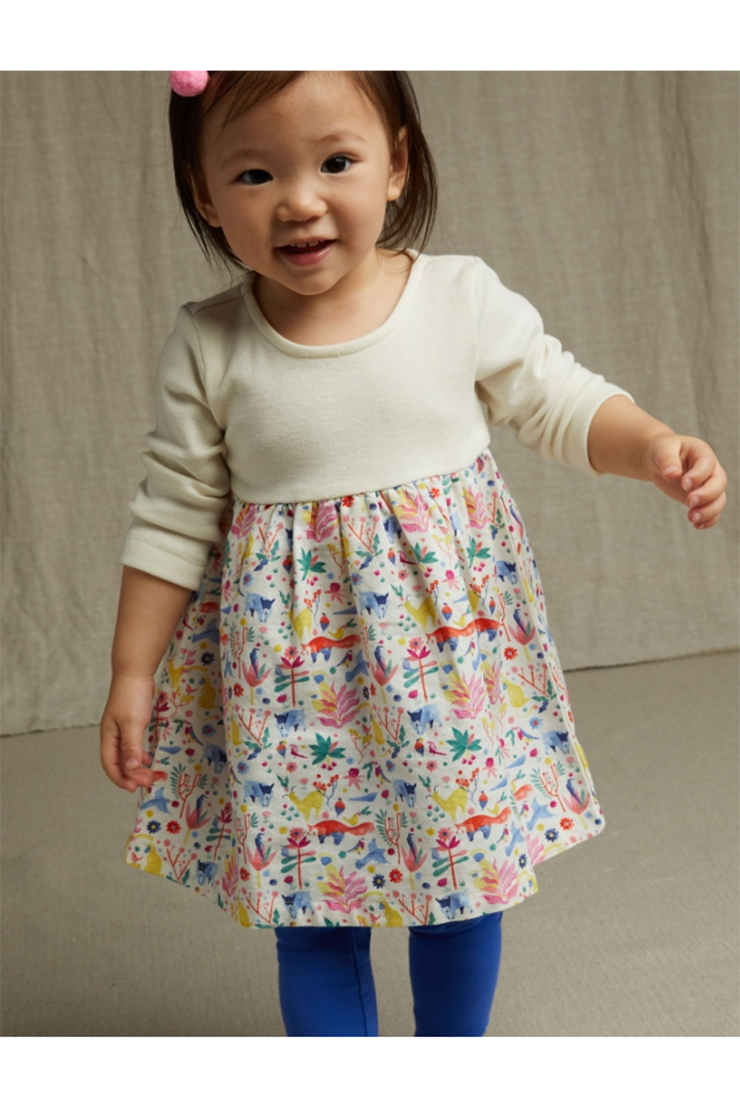 Tea Collection Two-Toned Baby Dress - Side Cropped Image