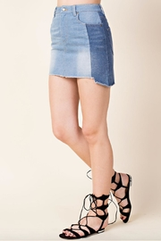 Honey Punch Two-Toned Denim Skirt - Product Mini Image